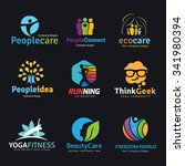 logo set logo collection people ... | Shutterstock .eps vector #341980394