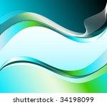 futuristic design template... | Shutterstock . vector #34198099