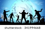 illustration of zombie party at ... | Shutterstock .eps vector #341994668