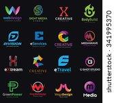 creative lettering logo set ... | Shutterstock .eps vector #341995370