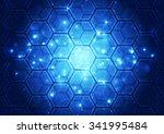 vector illustration hi tech... | Shutterstock .eps vector #341995484