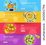 set of vegetarian food ...   Shutterstock .eps vector #342001796