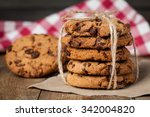 freshly baked chocolate chip... | Shutterstock . vector #342004820