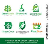 Green Leaf Nature Logo Templat...