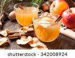 apple cider with cinnamon | Shutterstock . vector #342008924