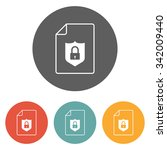 file protect icon   Shutterstock .eps vector #342009440