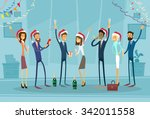 business people celebrate merry ... | Shutterstock .eps vector #342011558