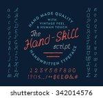 74 the hand skill script. hand... | Shutterstock . vector #342014576