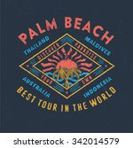 73 palm beach best tour in the... | Shutterstock .eps vector #342014579