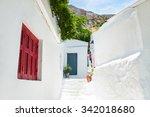 beautiful street in athens ...   Shutterstock . vector #342018680