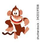 monkey cartoon  running | Shutterstock .eps vector #342019508