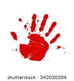 blood hand print vector | Shutterstock .eps vector #342020204