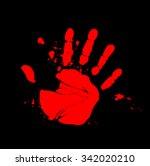 blood hand print vector | Shutterstock .eps vector #342020210