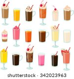 vector illustration of various... | Shutterstock .eps vector #342023963