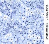 vector floral seamless pattern ...   Shutterstock .eps vector #342025046