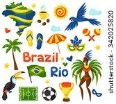 Collection Of Brazil Stylized...