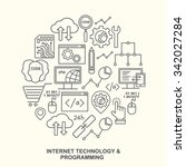 internet technology and... | Shutterstock . vector #342027284