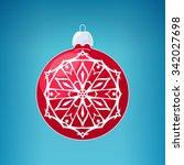 red ball with snowflake  ... | Shutterstock . vector #342027698