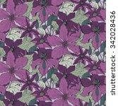 Floral Seamless Pattern On With ...