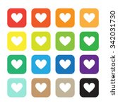vector color hearts icons set | Shutterstock .eps vector #342031730