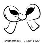 ribbon bow for christmas... | Shutterstock .eps vector #342041420