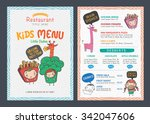 cute  kids menu vector template | Shutterstock .eps vector #342047606