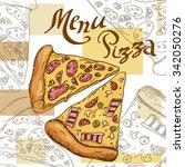 pizza vector illustration. fast ... | Shutterstock .eps vector #342050276