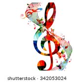 colorful background with music... | Shutterstock .eps vector #342053024