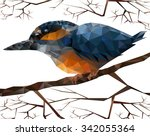 illustration of kingfisher... | Shutterstock .eps vector #342055364