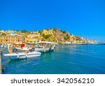 traditional small fishing boats ... | Shutterstock . vector #342056210