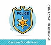 police badge doodle | Shutterstock .eps vector #342057860