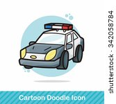 police car doodle | Shutterstock .eps vector #342058784