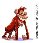 funny chimpanzee smiling...   Shutterstock .eps vector #342061214