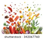 healthy eating background  ... | Shutterstock . vector #342067760