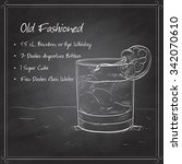 old fashioned cocktail ... | Shutterstock .eps vector #342070610