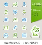 lineo papercut   office and... | Shutterstock .eps vector #342073634