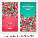 valentine banners set. vector... | Shutterstock .eps vector #342074600
