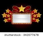 vintage theatre sign  vector 10 | Shutterstock .eps vector #342077678