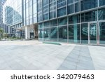 empty ground in front of modern ... | Shutterstock . vector #342079463