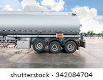 truck with fuel tank in gas... | Shutterstock . vector #342084704