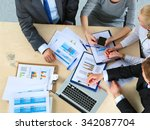 business people sitting and... | Shutterstock . vector #342087704