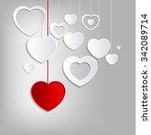 lovely heart background   Shutterstock .eps vector #342089714