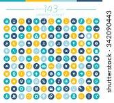 143 universal website icon set... | Shutterstock .eps vector #342090443