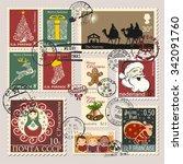 christmas postage stamps ...