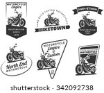 Set Of Classic Motorcycle Logo...