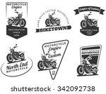 Set Of Classic Motorcycle Logo...