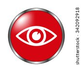 eye   vector icon on the  red...