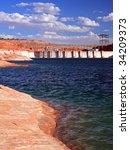 glen canyon dam on the colorado ... | Shutterstock . vector #34209373