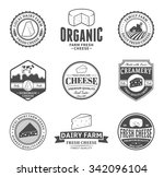 set of cheese logo templates.... | Shutterstock .eps vector #342096104