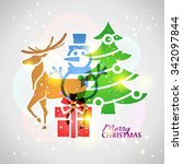 collage of christmas symbols... | Shutterstock . vector #342097844